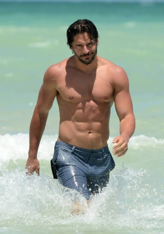 "June 17, 2012: Joe Manganiello shows off his toned body while out for a swim in Miami Beach's South Beach. Joe is in town to promote his new movie ""Magic Mike""...Mandatory Credit: INFphoto.com..Ref: infusmi-11/13"