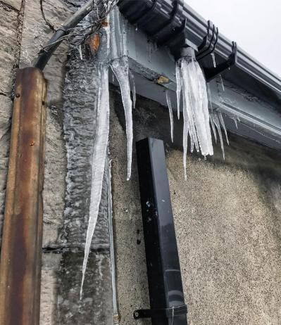 Icicles at Heuston Station, Dublin from Storm Emma 2018