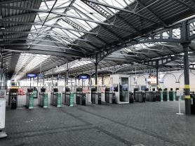 Hesuton Station, Dublin completely empty from storm Emma 2018