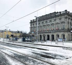 Outside Heuston Station, Dublin, so empty due to LUAS & train closures from Storm Emma 2018